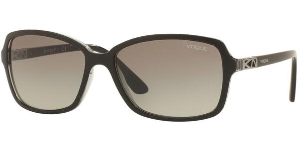 Sluneční brýle Vogue model 5031S, barva obruby černá mat čirá, čočka šedá gradál, kód barevné varianty 238511.