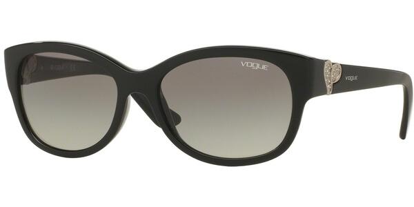 Sluneční brýle Vogue model 5034-SB, barva obruby černá lesk stříbrná, čočka šedá gradál, kód barevné varianty W4411.