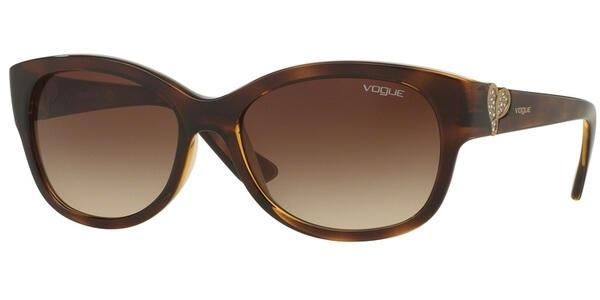 Sluneční brýle Vogue model 5034-SB, barva obruby hnědá lesk stříbrná, čočka hnědá gradál, kód barevné varianty W65613.