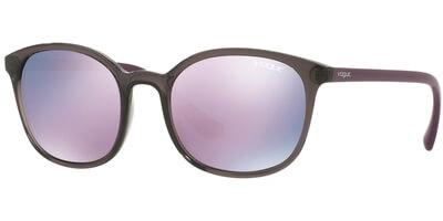 Sluneční brýle Vogue model 5051-S, barva obruby šedá lesk vínová, čočka růžová zrcadlo, kód barevné varianty 19055R.