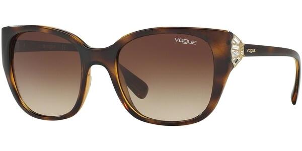 Sluneční brýle Vogue model 5061-SB, barva obruby hnědá lesk zlatá, čočka hnědá gradál, kód barevné varianty W65613.