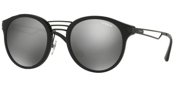 Sluneční brýle Vogue model 5132S, barva obruby černá lesk, čočka stříbrná zrcadlo, kód barevné varianty W446G.