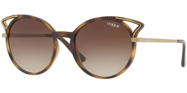 Sluneční brýle Vogue model 5136S, barva obruby hnědá lesk zlatá, čočka hnědá gradál, kód barevné varianty W65613.