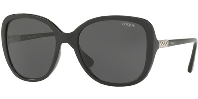 Sluneční brýle Vogue model 5154SB, barva obruby černá lesk, čočka šedá, kód barevné varianty W4487.