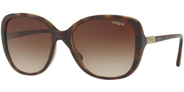 Sluneční brýle Vogue model 5154SB, barva obruby hnědá lesk, čočka hnědá gradál, kód barevné varianty W65613.