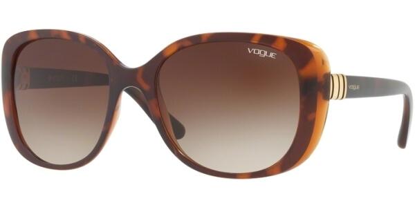 Sluneční brýle Vogue model 5155S, barva obruby hnědá mat, čočka hnědá gradál, kód barevné varianty 238613.