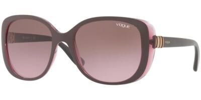 Sluneční brýle Vogue model 5155S, barva obruby fialová lesk růžová, čočka hnědá gradál, kód barevné varianty 246514.