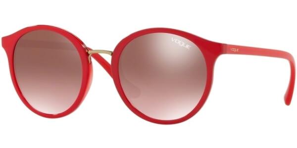 Sluneční brýle Vogue model 5166S, barva obruby červená lesk zlatá, čočka fialová zrcadlo gradál, kód barevné varianty 2621H8.