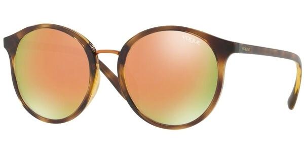 Sluneční brýle Vogue model 5166S, barva obruby hnědá lesk, čočka růžová, kód barevné varianty W6565R.