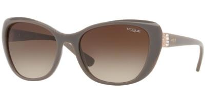 Sluneční brýle Vogue model 5194SB, barva obruby béžová lesk, čočka hnědá gradál, kód barevné varianty 259613.