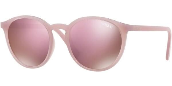 Sluneční brýle Vogue model 5215S, barva obruby fialová lesk, čočka růžová zrcadlo, kód barevné varianty 26095R.