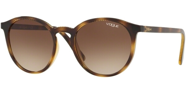Sluneční brýle Vogue model 5215S, barva obruby hnědá lesk, čočka hnědá gradál, kód barevné varianty W65613.