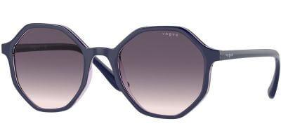 Sluneční brýle Vogue model 5222S, barva obruby modrá lesk, čočka šedá gradál, kód barevné varianty 296336.