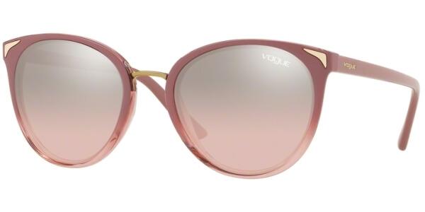 Sluneční brýle Vogue model 5230S, barva obruby růžová lesk čirá, čočka stříbrná zrcadlo gradál, kód barevné varianty 25547E.