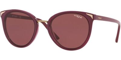 Sluneční brýle Vogue model 5230S, barva obruby červená lesk, čočka červená, kód barevné varianty 255575.