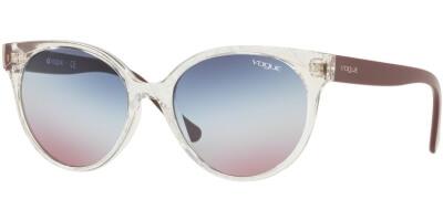 Sluneční brýle Vogue model 5246S, barva obruby čirá lesk hnědá, čočka modrá fialová gradál, kód barevné varianty W7450K.