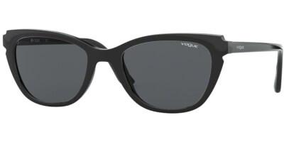 Sluneční brýle Vogue model 5293S, barva obruby černá lesk, čočka šedá, kód barevné varianty W4487.