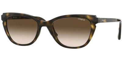 Sluneční brýle Vogue model 5293S, barva obruby hnědá lesk, čočka hnědá gradál, kód barevné varianty W65613.
