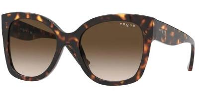 Sluneční brýle Vogue model 5338S, barva obruby hnědá lesk, čočka hnědá gradál, kód barevné varianty W65613.