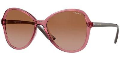 Sluneční brýle Vogue model 5349S, barva obruby růžová lesk čitá, čočka hnědá gradál, kód barevné varianty 286513.