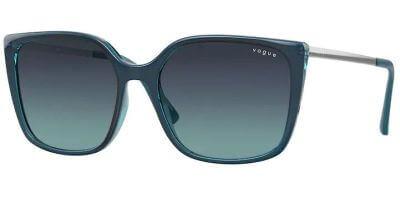 Sluneční brýle Vogue model 5353S, barva obruby tyrkysová lesk šedá, čočka modrá gradál, kód barevné varianty 28724S.