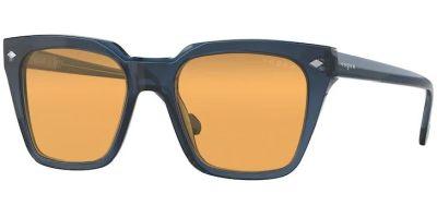 Sluneční brýle Vogue model 5380S, barva obruby modrá lesk, čočka oranžová, kód barevné varianty 27607.