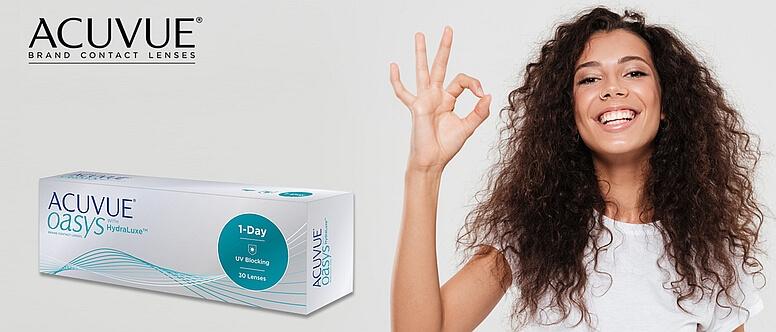 Nejnovější jednodenní kontaktní čočky Acuvue Oasys 1-Day pro dokonalé pohodlí.