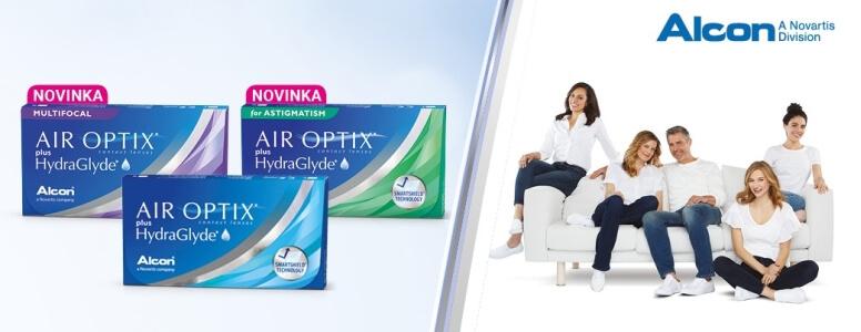 Vynikající měsíční kontaktní čočky Air Optix plus HydraGlyde pro celodenní pohodlí.