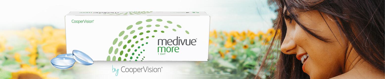 Pohodlné jednodenní kontaktní čočky Medivue More pro každodenní nošení.