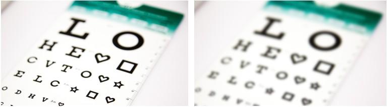 rozmazané vidění při astigmatismu